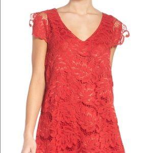 BB Dakota red lace dress